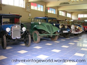 Vintage cars present on display